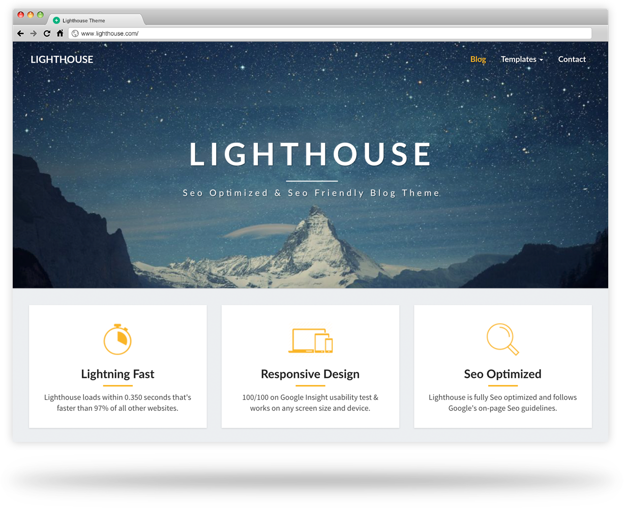 lighthouse wordpress theme